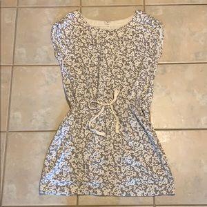 Loft Cinched Waist Cotton Sleeveless Dress